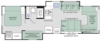 chateau class c motorhomes floor plan 30d thor motor coach