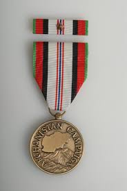 afghanistan ribbon for wearing service with afghanistan medal