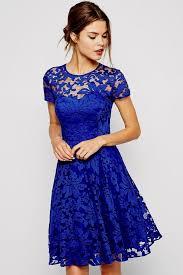 blue dress royal blue casual skater dress naf dresses