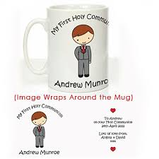 boys communion gifts personalised holy communion mug boy personalised