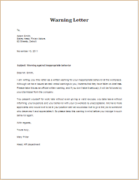 work warning letter template
