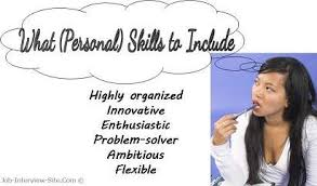 List Of Job Skills For A Resume by Resume Personal Skills List Of Personal Skills For Resumes