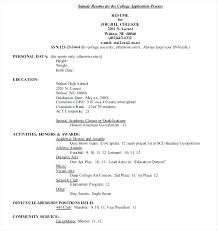 academic resume for college application activities resume college application template exles for