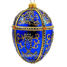 faberge inspired glass egg ornaments