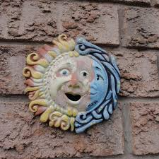 Garden Decorations For Sale Best Clay Sun Moon Outdoor Decorative Hanging Garden Decor For