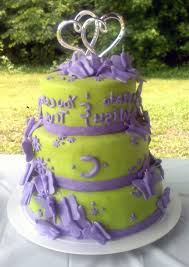 lime green and purple butterfly wedding cake gallery picture