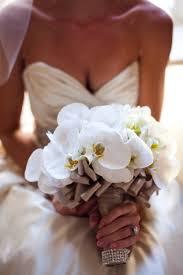 wedding flowers orchids white bouquet wedding flower