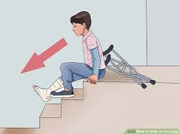 What Should You Not Do When Using A Stair Chair How To Walk On Crutches With Pictures Wikihow