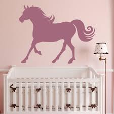 animal wall stickers galloping horse silhouette farmyard animals wall stickers home decor art decals