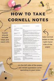 how to take cornell notes plus a free worksheet pack cornell