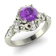 amethyst engagement rings amethyst engagement rings for february birthstone
