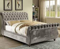 Tufted Sleigh Bed King Tufted Sleigh Bed White Bed