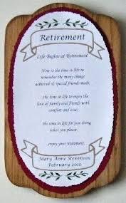 retirement plaque personalized retirement plaque