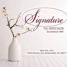 signature salon home facebook