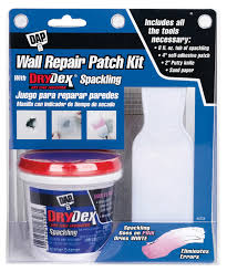 dap wall repair patch kit with drydex spackling 8 oz walmart com