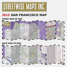 Union Square San Francisco Map by Streetwise San Francisco Map Laminated City Center Street Map Of