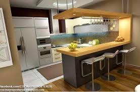 small modern kitchen interior design cocinas con barra cocina y reposteros decoración fotos y