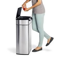 poubelle inox cuisine avis sur la poubelle simplehuman 40l touch bar inox brossé anti