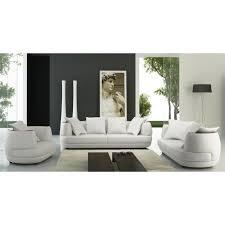 ensemble canapé fauteuil ensemble canapé 3 2 1 places en cuir blanc ryga achat vente