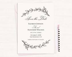 wedding announcement template white save the date etsy