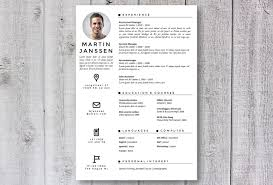 Instant Resume Template Creative Cv Resume Template In Ms Word Instant Download