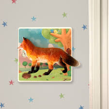 crafty fox light switch for kids themed bedrooms woodland themed decorative light switch for children woodland themed room with fox candy queen designs 4