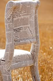 Chair Fabric Newspaper Fabric Chair Could Actually Papier Mache Newspaper Onto