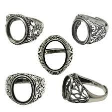 silver rings stones images 2018 beadsnice thailand silver rings diy ring setting antique jpg