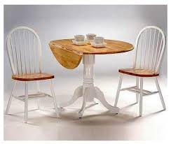 Drop Leaf Pedestal Dining Table 3 Pc Round Dual Drop Leaf Dinette Table U0026 Chair Set Dining Sets
