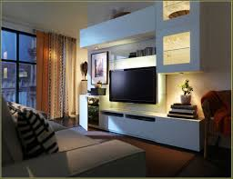 ideas wall tv unit with beautiful lamp come with captivating ikea