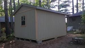 chalet style gable shed built in big bay premium pole building