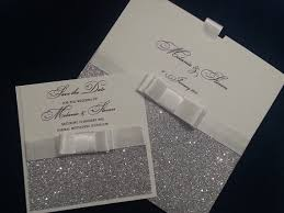 wedding invitations glitter pocket wedding invitations