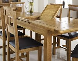 Rustic Oak Dining Tables Oak Extending Dining Table With Four Chairs