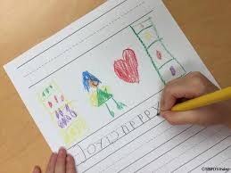 inside out writing activity simply kinder