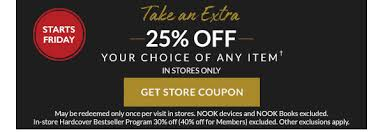 Barnes And Noble Nook Coupon Barnes U0026 Noble Black Friday Is Almost Here Extra 25 Off Coupon