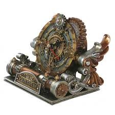 time chronambulator steampunk desk clock steam punk clocks gears