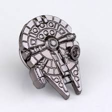 palladium jewelry birthday gift wars millennium falcon shape pin brooch high