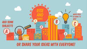 sharing ideas prezi template with who do you like to share you