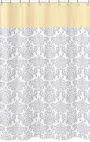 amazon com sweet jojo designs yellow gray and white damask