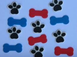 24 edible dog bone u0026 paw print cupcake cake topper decoration paw