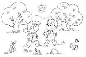 friendship coloring page for preschool printable coloring pages