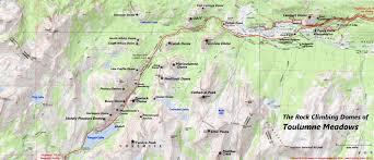 Map Of Yosemite Rock Climbing In Tuolumne Meadows Yosemite National Park