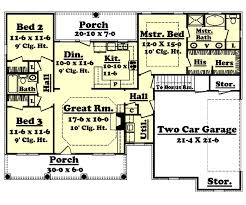 colonial style floor plans colonial style house plan 3 beds 2 00 baths 1500 sq ft plan 430 14