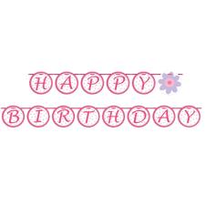 happy birthday ribbon ballerina party happy birthday ribbon circle banner