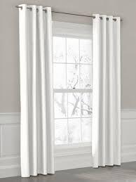 White Curtain Panel White Grommet Curtain Panels White Grommet Drapery Panel Modern