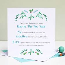 personalised christmas party invitations by love give ink