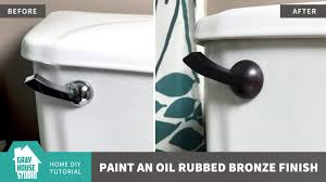 how to paint an oil rubbed bronze finish youtube