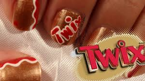 twix candy inspired nail art youtube