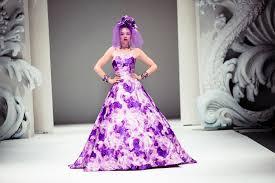 Purple Wedding Dress Wedding Inspiration From Yumi Katsura Purple Floral Wedding Dress