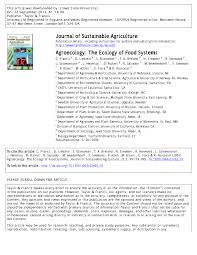 agroecology the ecology of food systems pdf download available